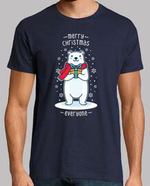 cadeau de Noël mignon bear polaire kawa