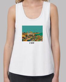 Cádiz ,Mujer, tirantes anchos & Loose Fit, blanca