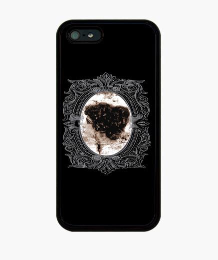 Coque iPhone cadre en argent dame victorienne