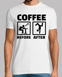 café antes después