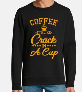 café como crack regalo de cita de café