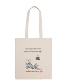 cafégato bolsa de tela eco-friendly