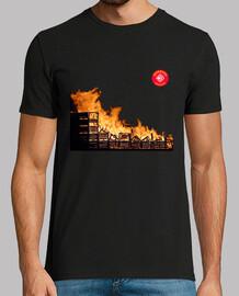 Cajas ardiendo BCN