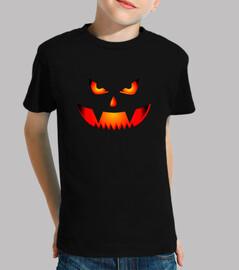 Calabaza Terrorifica de Halloween Camiseta de Miedo