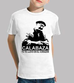 Calabaza, yo te llevo en el corazón.