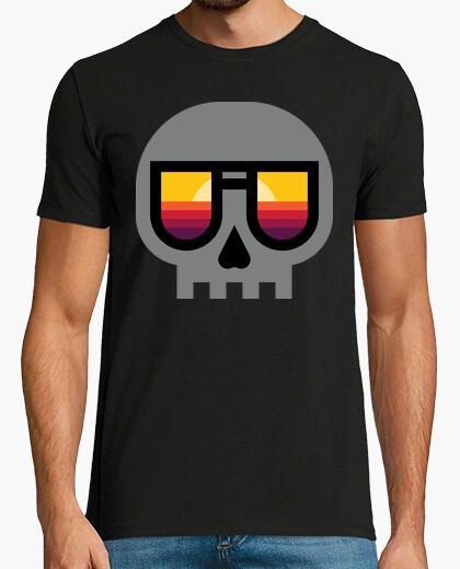 Camiseta calavera al atardecer