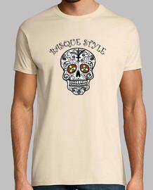 Calavera Basque Style, Camiseta para chico