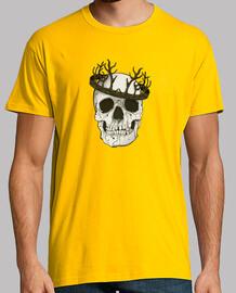 Calavera coronada camiseta hombre