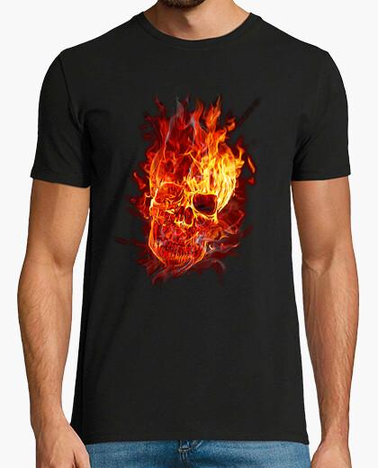 Camiseta Calavera de fuego