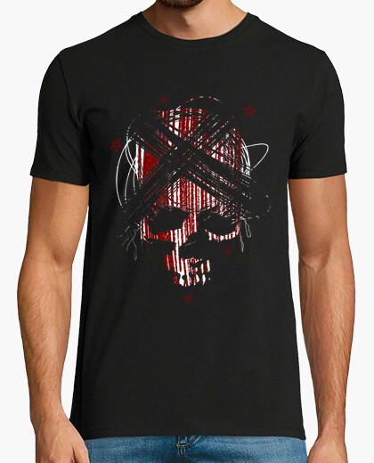 Camiseta calavera estrellada