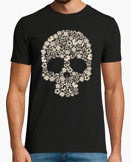 Camiseta calavera flores