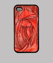 Calavera fuego Funda iPhone 4