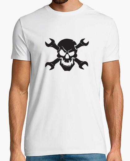 Camiseta calavera mecanico