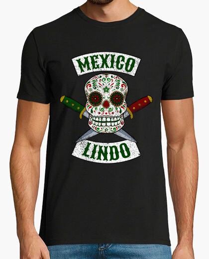 Camiseta Calavera mexicana con puñales México Lindo