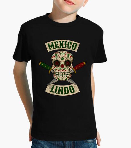 Ropa infantil Calavera mexicana con puñales México Lindo