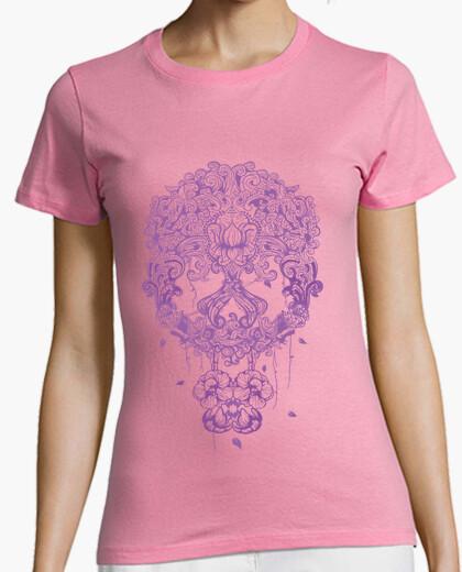 Camiseta Calavera mexicana en color lila