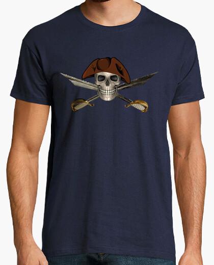 Camiseta Calavera Pirata con Espadas