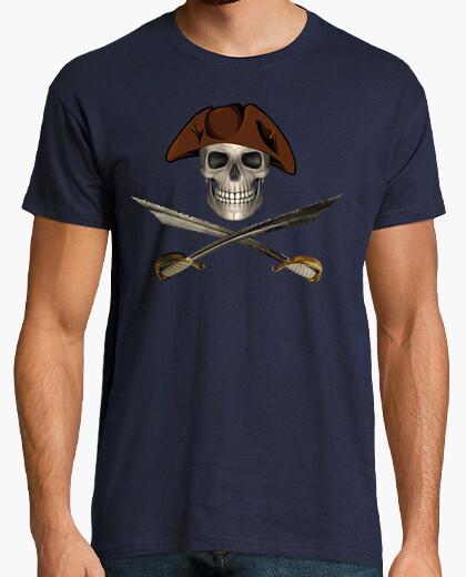 Camiseta Calavera Pirata con Espadas 2