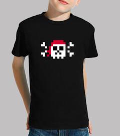 Calavera pirata. pixel art