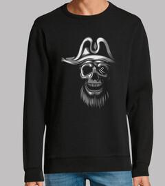 calavera piratas blanco