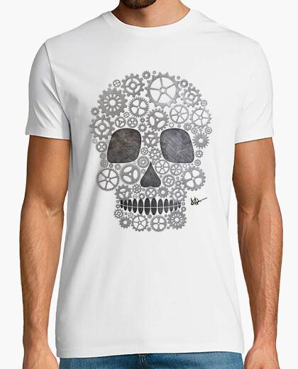 T-Shirt calavera steampunk silber !!!