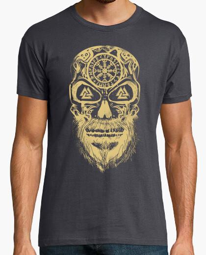 Camiseta Calavera Vikingos Crema