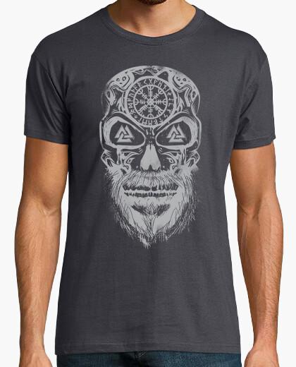 Camiseta Calavera Vikingos Gris