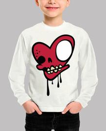 Calavera zombie corazón Roja