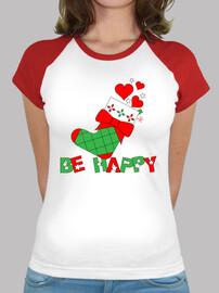 CALCETÍN NAVIDAD - BE HAPPY