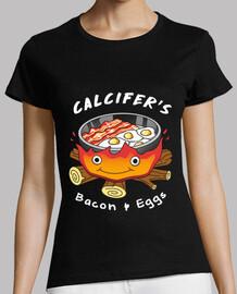calcifers tocino y huevos camisa mujer