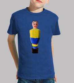 calciobalilla blu e giallo