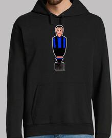 Calciobalilla negro y azul camisetas fu