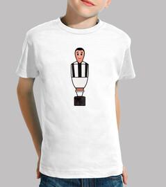 Calciobalilla negro y blanco