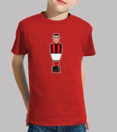 Calciobalilla rojo negro y blanco
