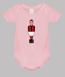 Calciobalilla rojo negro y blanco camis