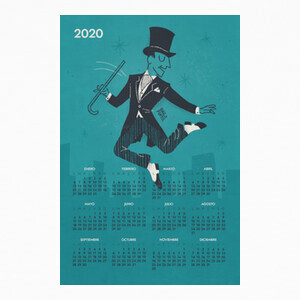 T-shirt Calendario 2020 Fred Astaire