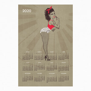 Calendario 2020 Pin Up Girl T-shirts