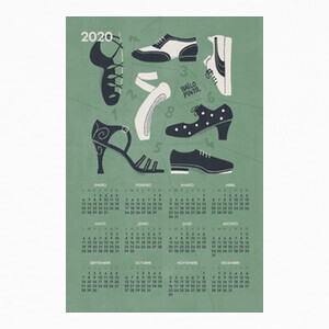 T-shirt Calendario 2020 Zapatos de baile