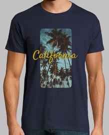 California Hombre, manga corta, azul marino, calidad extra