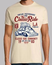 california t-shirt auto d'epoca classici