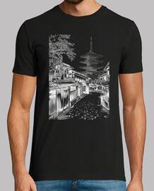 Calle japonesa templo
