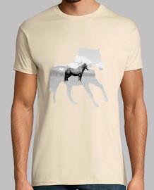 calma horse - t-shirt da uomo