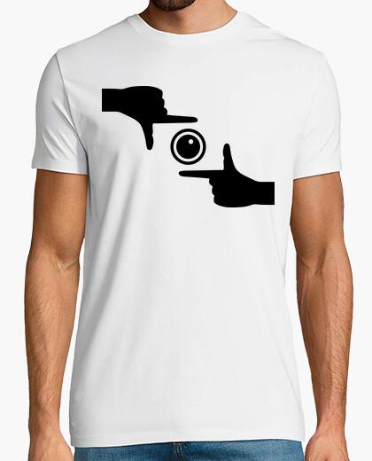 Camiseta cámara de las manos