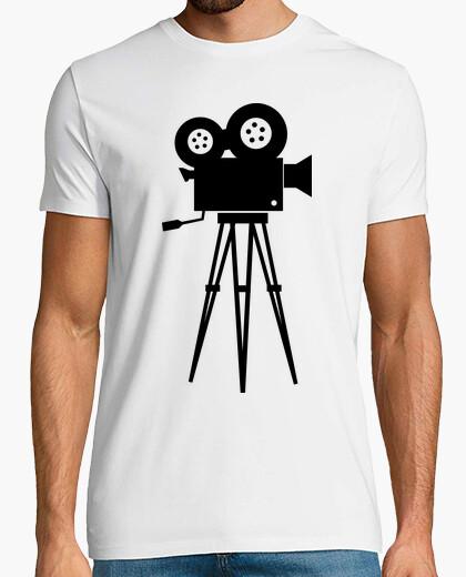 Camiseta cámara del cine negro