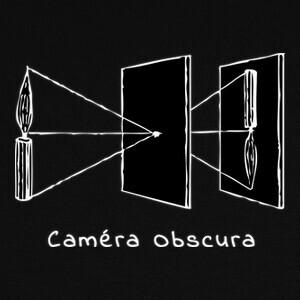 Tee-shirts cámara oscura agujero de alfiler
