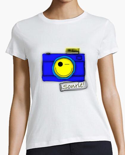 Camiseta CAMARA SMILE AZUL