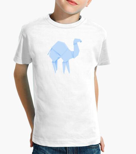 Ropa infantil Camello azul. Aplícalo sobre diferentes colores de camiseta de niño