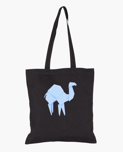 Camello azul. Puedes aplicarlo sobre bolsa de tela color natural o negro