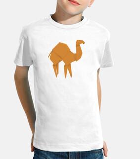 Camello naranja. Aplícalo sobre diferentes colores de camiseta de niño