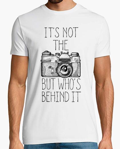 Camera black ink t-shirt